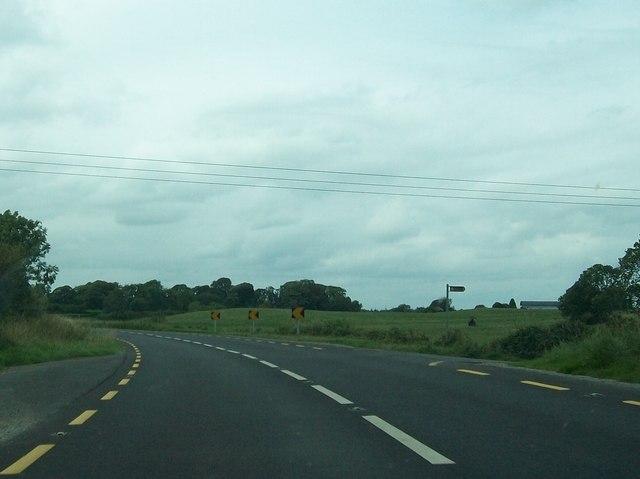 The N52 between Cloncat and Scurlockstown