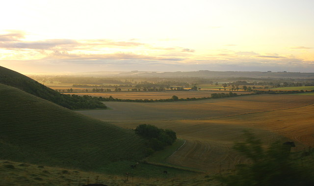Just after dawn over the Vale of Pewsey