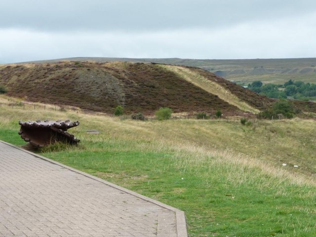 Spoil heap north of Big Pit Mining Museum