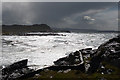 NM4167 : Stormy Seascape by Anne Burgess
