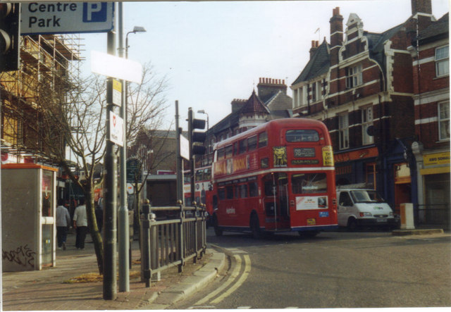 98 Routemaster bus on Willesden High Road, 2001