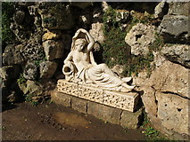 SO8744 : Croome Park grotto,  sculpture of goddess Sabrina by David Hawgood