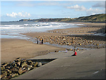 NZ8612 : A great beach walk by Pauline E