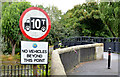 J3675 : Weight-restriction sign, Victoria Park, Belfast by Albert Bridge