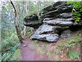 SJ5155 : Rocky Outcrop on the Sandstone Trail by Jeff Buck