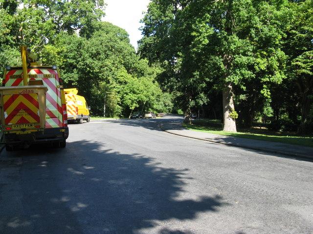 Internal road through Hampden Park Eastbourne