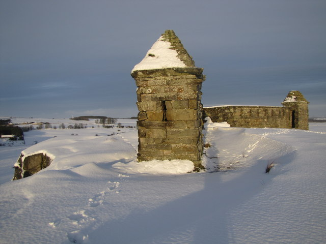 Codger Fort (folly) in the snow