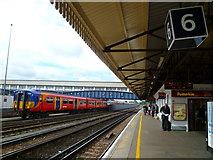TQ2775 : Looking along Platform 6 on Clapham Junction station towards Putney by Shazz