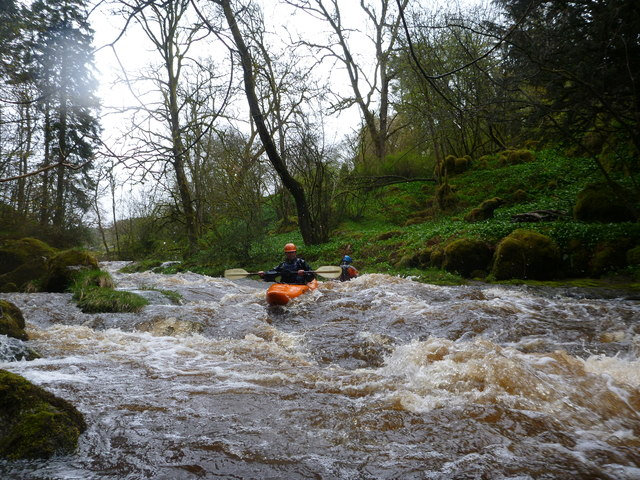 Oughtershaw Beck rapids in the woods