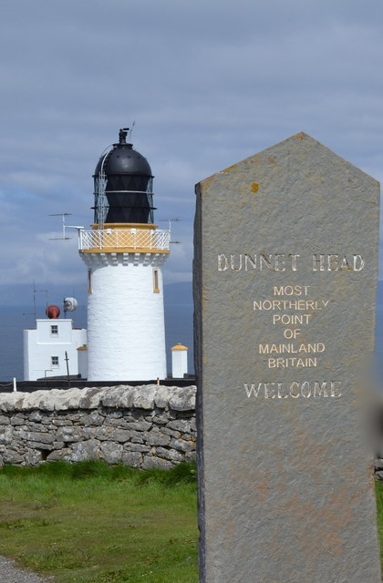 Dunnet Head Sign, Lighthouse and Fog Horn, Dunnet Head Peninsula, Caithness