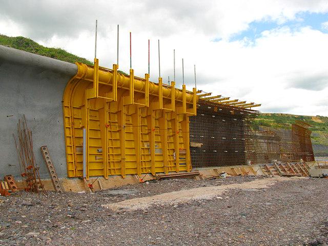 Sea wall construction