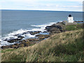 NU1735 : Looking towards Blackrocks Point Lighthouse by Graham Robson