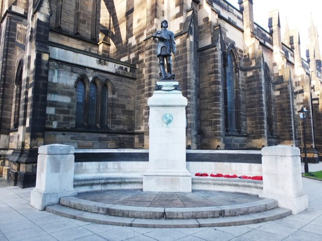St George Statue (war memorial) by St Thomas the Martyr, Newcastle