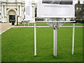 TQ3877 : Supporting structure for banners, National Maritime Museum, Greenwich by Robin Stott