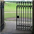 SO8845 : Croome Park, church gate by David Hawgood