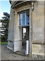 SO8844 : Croome Place rotunda, door with curved sash windows by David Hawgood