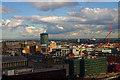 SP0786 : Birmingham skyline featuring Bull Ring Rotunda by Julian Osley