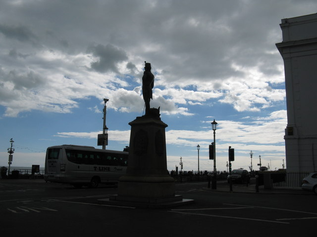 Unintentional silhouette of the 2nd Royal Sussex Regiment Memorial
