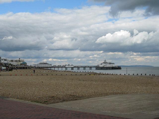 Eastbourne beach and pier