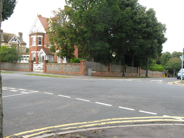 Cross roads of St John's Road with Fairfield Road and Staveley Road