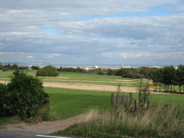 View east over the Royal Eastbourne Golf Course