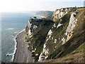SY2287 : Branscombe Cliffs from the south west coastal path by M Etherington
