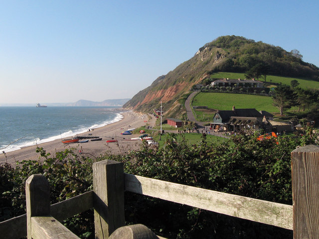 Branscombe Beach from the south west coastal path