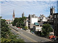 NJ9306 : Denburn Road, Aberdeen (the view from Union Street bridge) by Bill Harrison