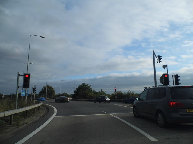 Roundabout at junction 8/9 on the M4, Maidenhead
