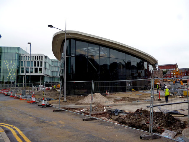 Rochdale:  New bus station under construction