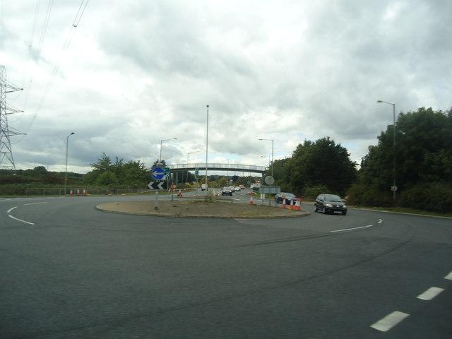 Roundabout on the A40, Denham