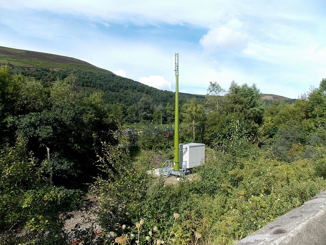 Communications mast near Ebbw Vale Parkway railway station