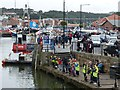 NZ8911 : Quayside activity, Whitby by Robin Drayton