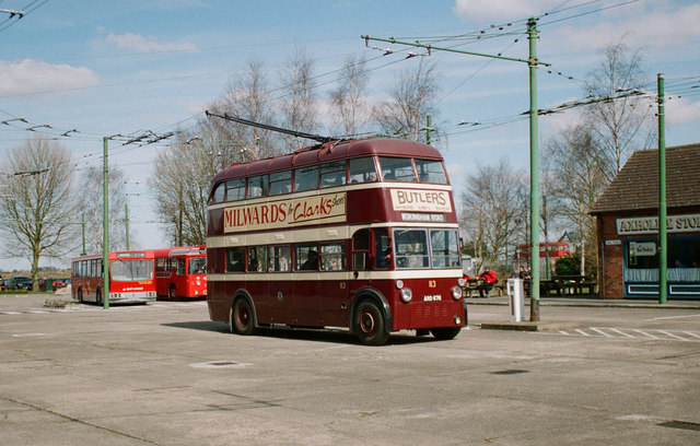 The Trolleybus Museum at Sandtoft - Reading trolleybus 113, near Sandtoft, Lincs