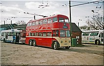 SE7408 : The Trolleybus Museum at Sandtoft - Huddersfield trolleybus 619, near Sandtoft, Lincs by P L Chadwick