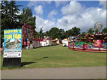 SP3165 : Sunday morning funfair, Pump Room Gardens by Robin Stott