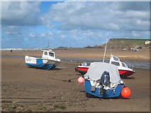 SS2006 : Boats at Bude Haven at low tide by Rod Allday