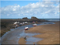 SS2006 : The River Neet flowing across the beach to the sea by Rod Allday