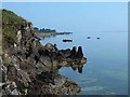 C6138 : Rocky coast at Moville by Oliver Dixon