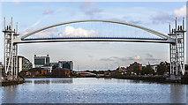 SJ8097 : Millennium Bridge, Salford Quays by William Starkey