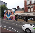 SS6593 : Symmetrical mural in High Street Swansea by Jaggery
