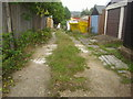 TQ2894 : Alleyway off Woodfield Drive, Southgate by David Howard