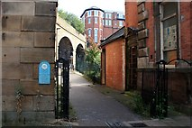 SK3588 : Entry to the Five Weirs Walk by Graham Hogg