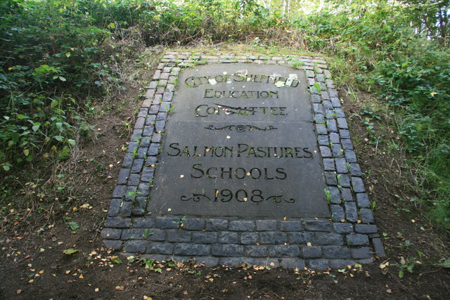 Memorial stone at Salmon Pastures