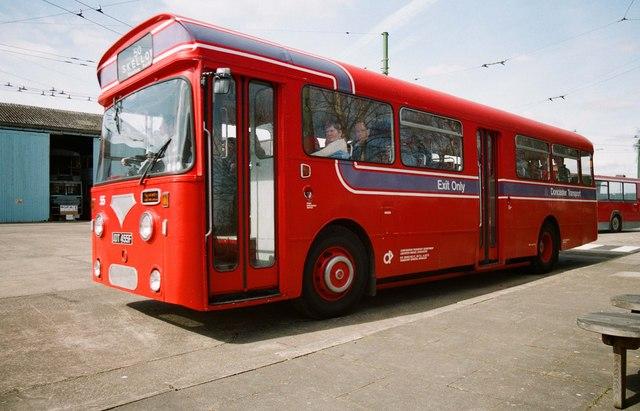 The Trolleybus Museum at Sandtoft - Doncaster bus 55, near Sandtoft, Lincs