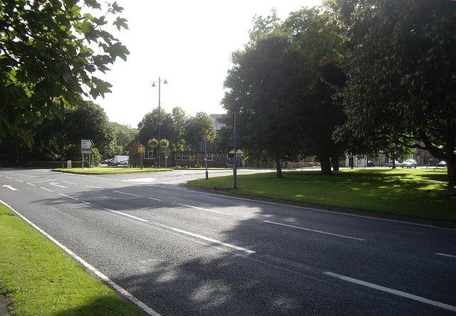 Road junction in Lanchester
