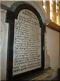 ST6316 : Sherborne Abbey: memorial (xv) by Basher Eyre