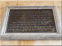 ST6316 : Sherborne Abbey: memorial (xxii) by Basher Eyre