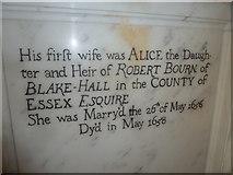 ST6316 : Sherborne Abbey: memorial (xxvii) by Basher Eyre
