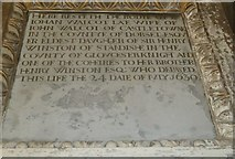 ST6316 : Sherborne Abbey: memorial (xxxi) by Basher Eyre
